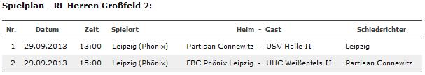 1. Spieltag steht fest – Heimspiel in Leipzig!