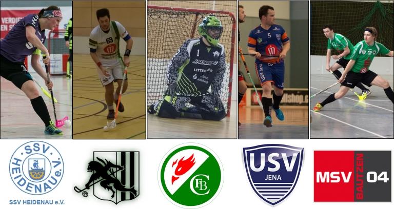 Bild zum neuen Saisonstart der Floorball-Verbandsliga mit Teams wie unter anderem Jena und Bautzen