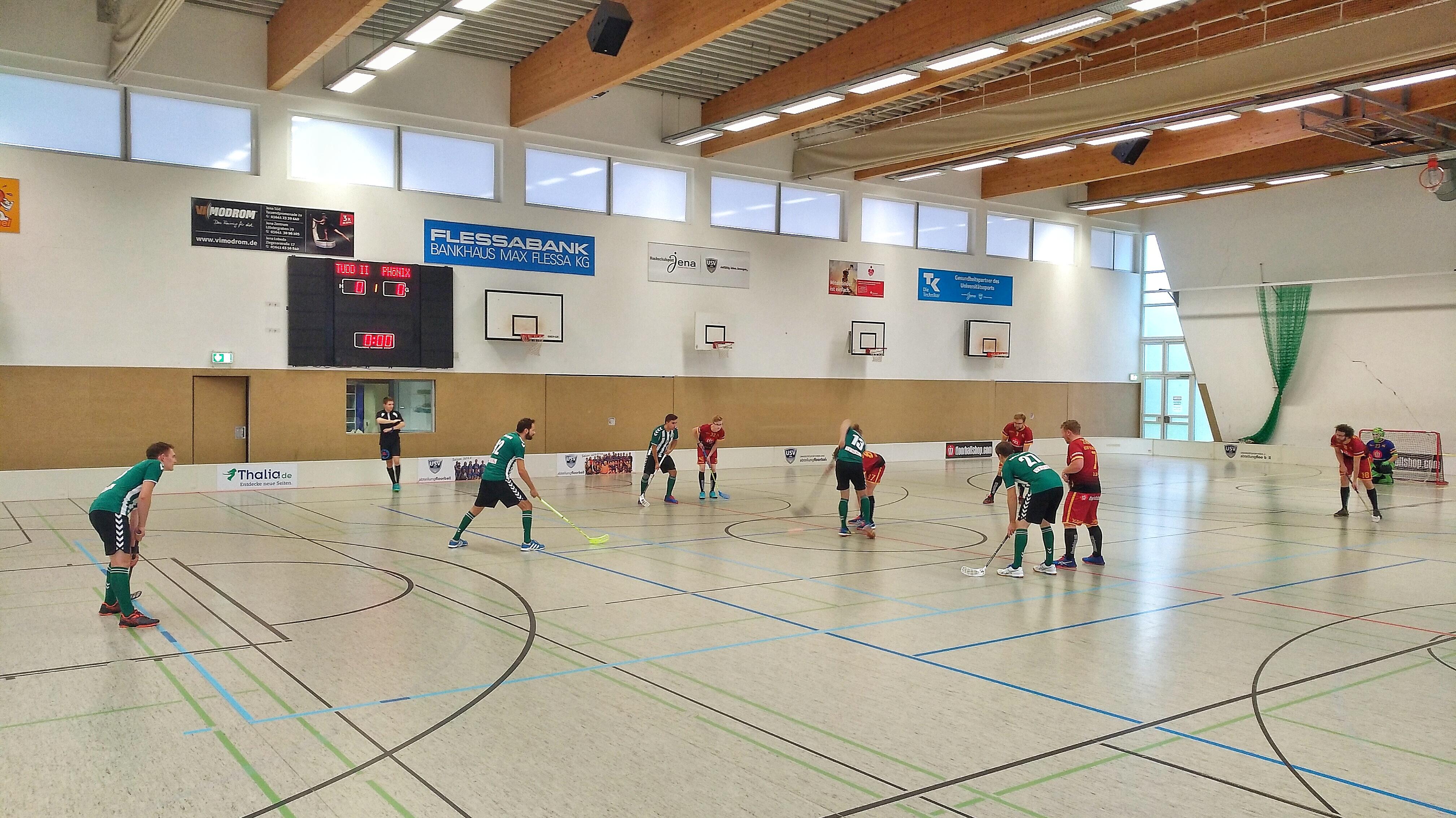 Anbully beim Floorballspiel Phönix Leipzig gegen den USV TU Dresden