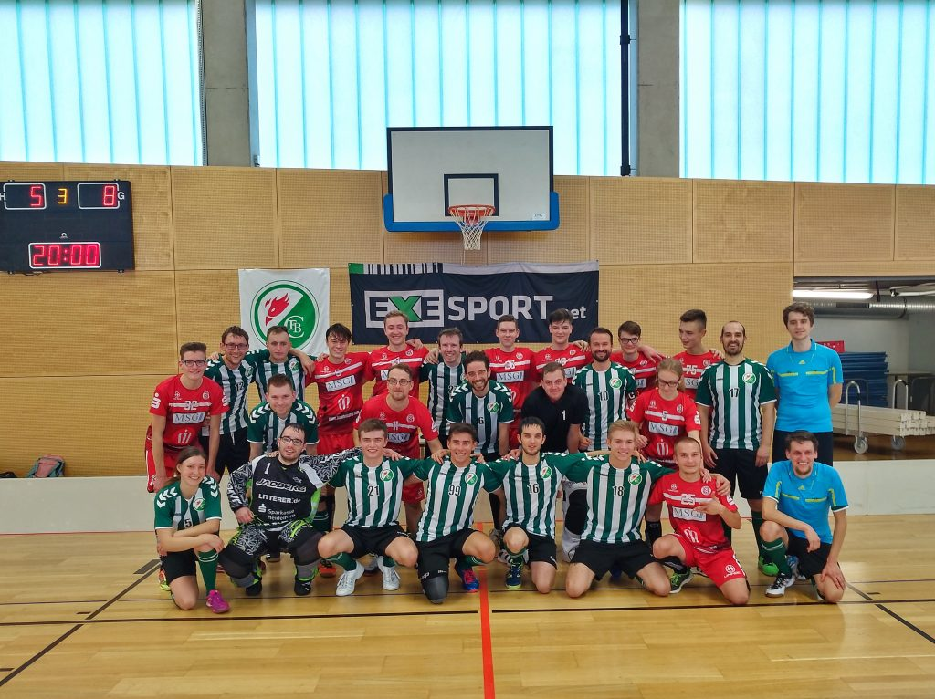 Phönix Leipzig und die TSG Füchse beim abschließenden gemeinsamen Teamfoto